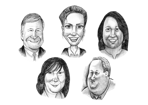 The Riverhead School Board candidates. (Credit: Peter Waldner)