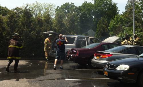The engine of the Escalade exploded shortly after the driver turned on the ignition. (Credit: Tim Gannon)