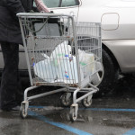 CARRIE MILLER PHOTO | A shopper fills up at Waldbaum's on Thursday afternoon.