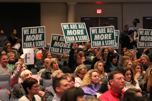 Educators packed a forum at Eastport-South Manor High School last December to express their displeasure over Common Core. (Credit: Carrie Miller, file)