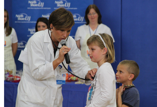 CARRIE MILLER PHOTO | Riley Avenue Elementary students learned how to keep their hearts healthy Wednesday afternoon, thanks to volunteers from North Shore University Hospital LIJ.