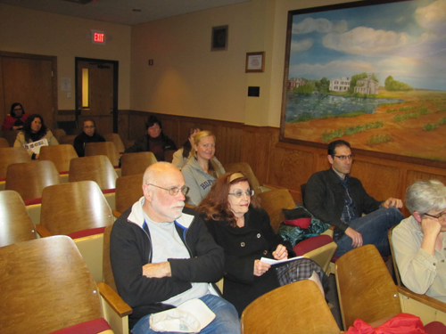 "Only about ten property owners showed up at last Wednesday's meeting on a proposed ""Second and Ostrander"" historic district downtown. Tim Gannon Photo."