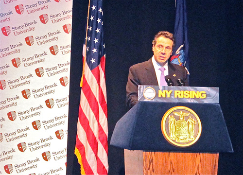 Governor Andrew Cuomo on Long Island