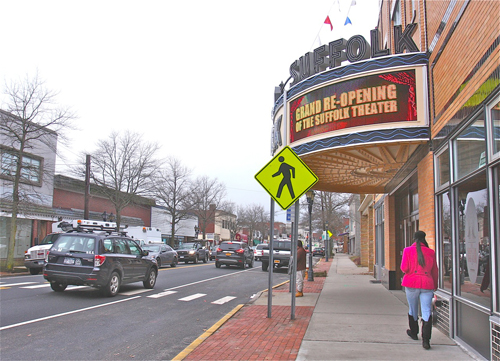 East Main Street looking west near the theater. (file photo)