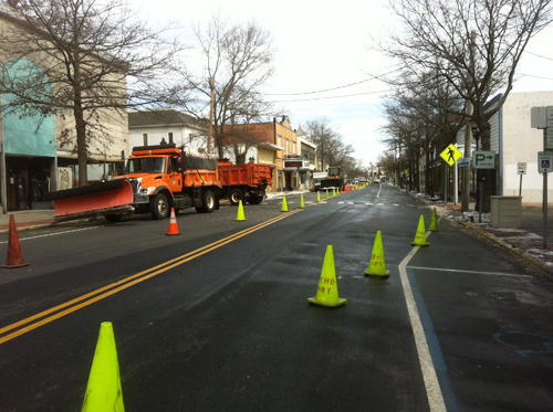 downtown Riverhead cleaned up
