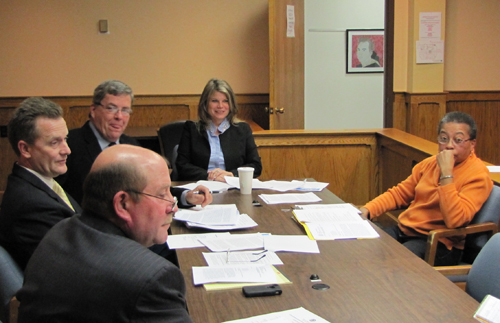 TIM GANNON PHOTO | Ethics Board chairperson Donna Barnard (right) with the Town Board Thursday.