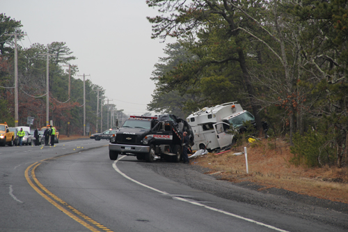 CARRIE MILLER PHOTO | The driver of an SUV died in the Thursday morning crash on Route 24.