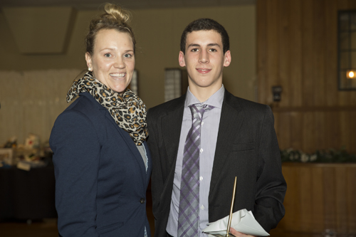 LIFB education chairperson Kristina Sidor with James Anson, scholarship winner. (Credit: Courtesy LIFB)