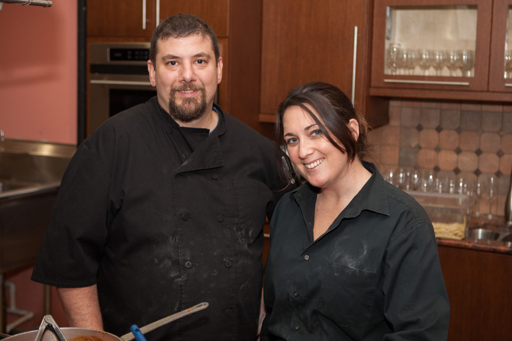 Petulant Wino partners Chef Lenny Campanelli and Courtney Schaudel.
