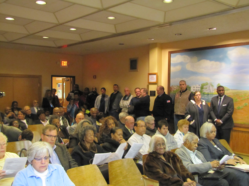 Tuesday's hearing on the Community Benefit zone at Riverhead Town Hall was packed.