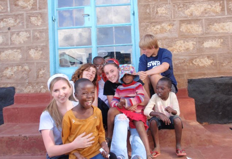 COURTESY FILE PHOTO | Students from Shoreham-Wading River's Global Awareness Club in Meru, Kenya, in 2011.