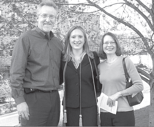 COURTESY PHOTO | Jack Hansen, with daughter Lisa and wife Denise