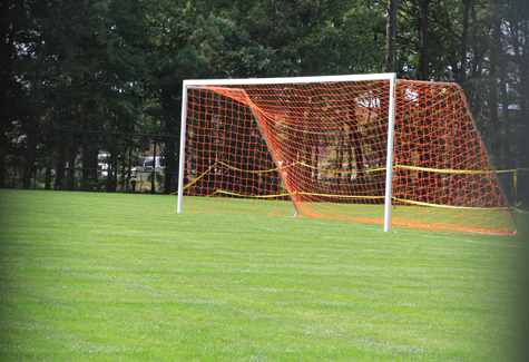 JENNIFER GUSTAVSON PHOTO | The soccer net at the new field.
