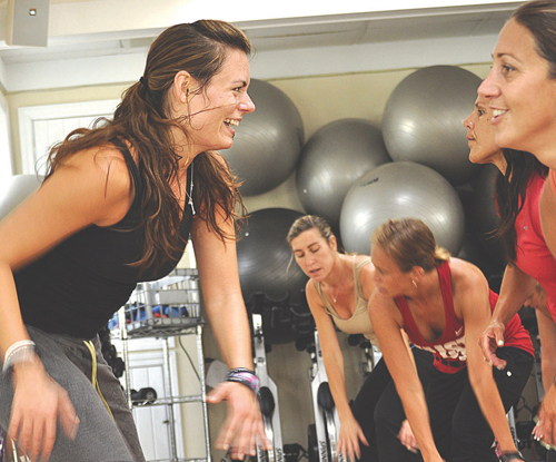 Jill Schroeder leading a Zumba class at her JABS studio in Mattituck. (file photo)