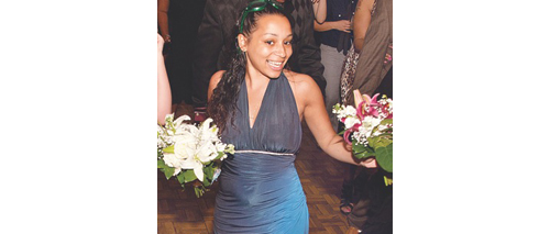COURTESY PHOTO | Ashley Johnson at a family friend's wedding in 2011. Police have not made any arrests in the June 6 hit-and-run crash that injured Ms. Johnson in Florida.