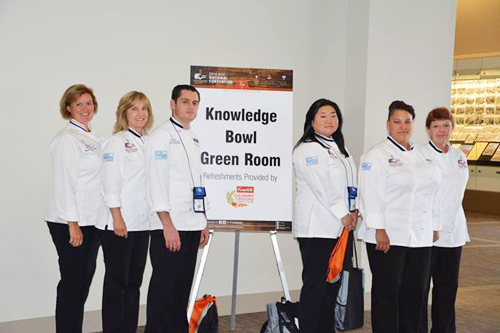 The Suffolk County Community College Culinary Arts Knowledge Bowl team consists of: (from left) faculty advisor Andrea Glick, Lynn Bohlen, Vincent Sperling, team captain Satoko Matthews, Lillian Senior and team manager Sherry Mazze. (Credit: SCCC courtesy)