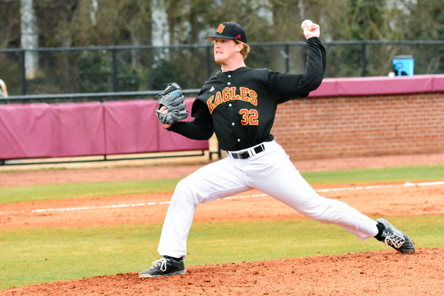 Former Riverhead baseball player Matt Crohan just finished his sophomore year at Winthrop University. (Credit: Winthrop Athletics)