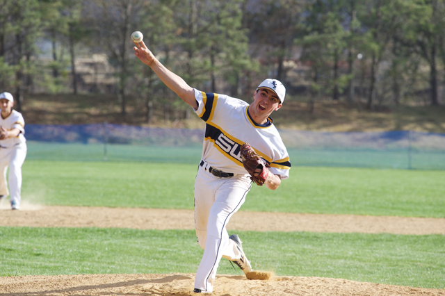 Shoreham-Wading River sophomore Brian Morrell threw his third career no-hitter Wednesday in a win over Amityville. (Credit: Robert O'Rourk)