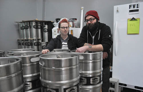 RACHEL YOUNG PHOTO | Lauri and Matt Spitz, co-owners of Moustache Brewing Co.