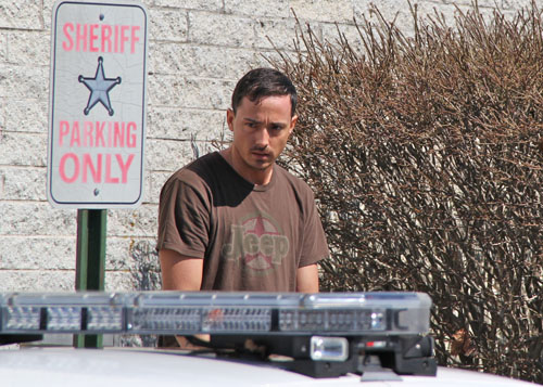 Curran Lee Kirchner, 32, of Wading River leaving his arraignment Wednesday morning. (Credit: Carrie Miller)