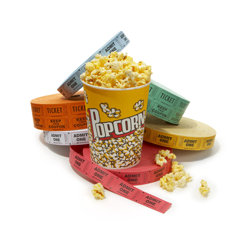 Popcorn and Movie Tickets