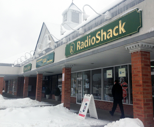 JOSEPH PINCIARIO PHOTO | The Radio Shack  in the King Kullen shopping center Wednesday.