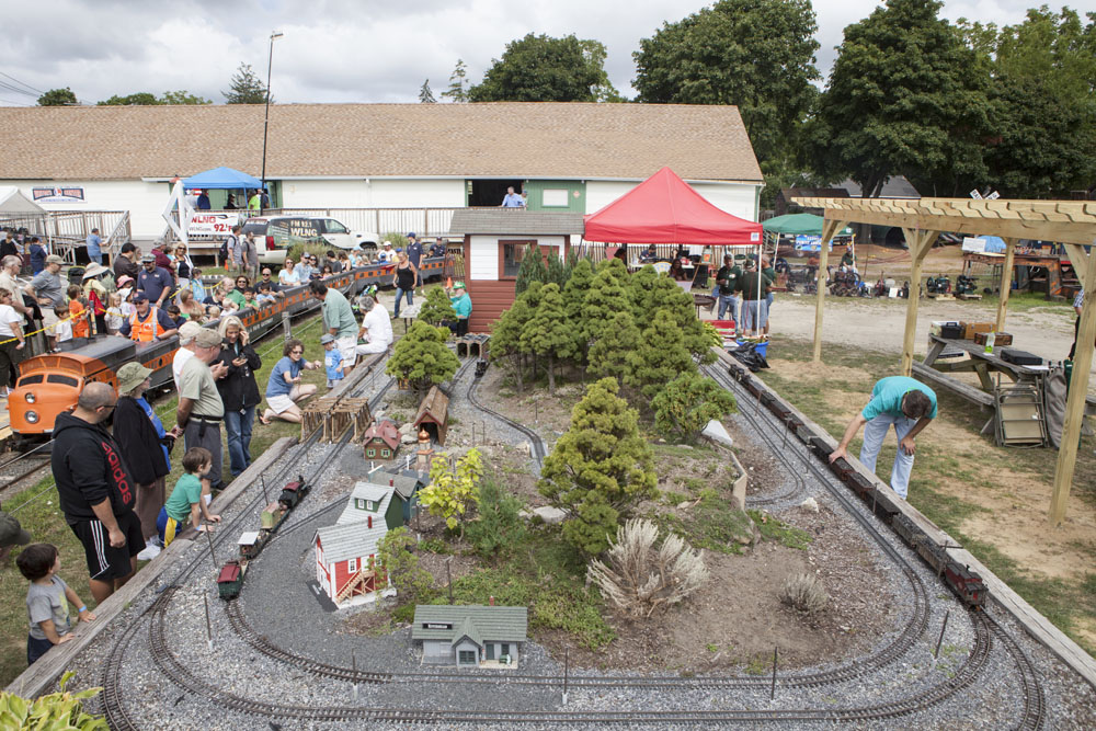 The outdoor train display. (Credit: Katharine Schroeder)