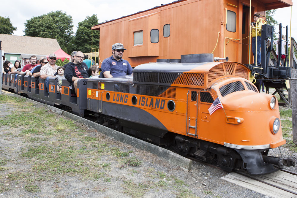 The LIRR G-16 park train, which was at the 1964-1965 World's Fair. (Credit: Katharine Schroeder)