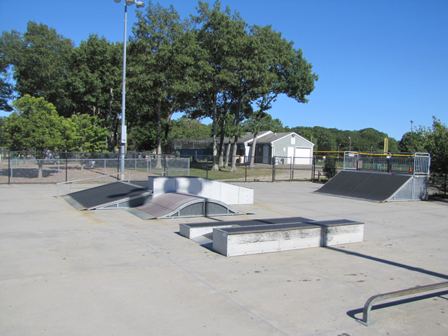 The southern portion of Riverhead's skate park at Stotzky Park is reopening.