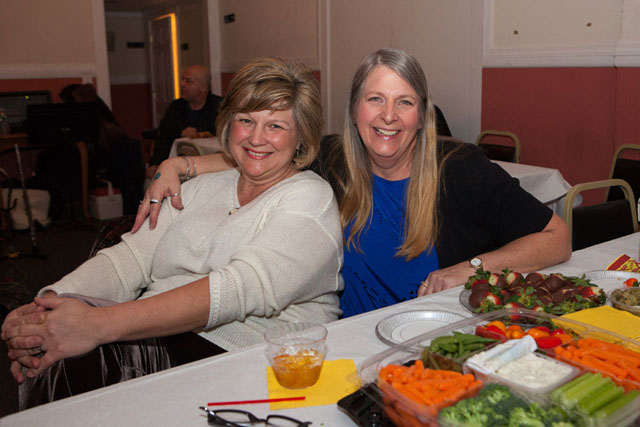 Laura Wanat and Diane Loper brought their own appetizers to enjoy.