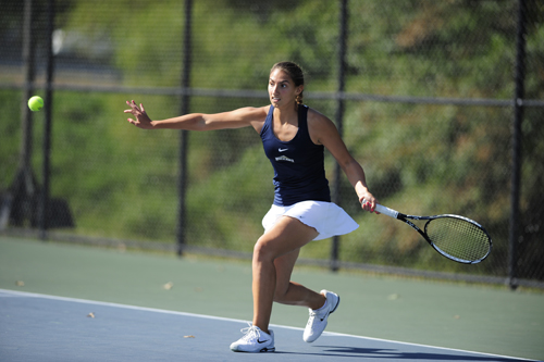 McGann-Mercy graduate Elizabeth Rossi was named co-MVP of the Mount Saint Mary's tennis team this season. (Credit: David Sinclair, Mount Saint Mary's Athletics)