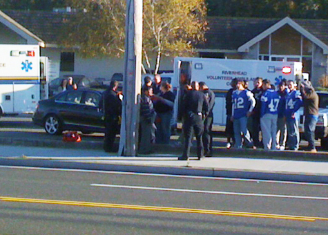 Blue Waves car crash Riverhead football