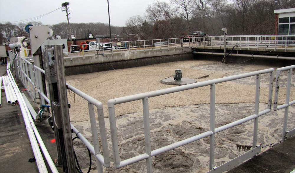 The Riverhead sewage treatment plant on Dec. 8 (Credit: Tim Gannon)