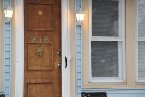 CARRIE MILLER PHOTO | A bullet pierced the window of an East Avenue home Tuesday night.