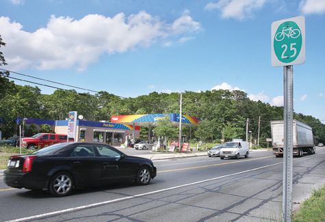 BARBARAELLEN KOCH FILE PHOTO | The town-wide bike path will start in the west along Route 25 in Calverton, town officials have said.