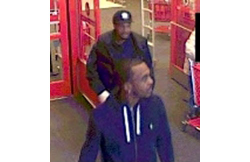 COURTESY SCPD | Police said three men stole nearly $1,900 in merchandise from Target in November.