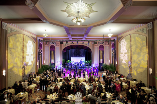 KATHARINE SCHROEDER PHOTOS | The Suffolk Theater's grand ballroom during its grand re-opening gala in March.