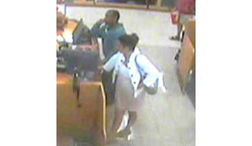 SUFFOLK COUNTY CRIME STOPPERS COURTESY PHOTOS | Suffolk County Crime Stoppers and Riverhead Town police say this man and woman stole a Riverhead woman's credit card to shop at a Kohl's in Shirley this fall.