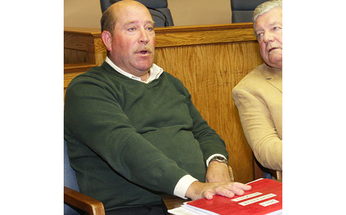 FILE PHOTO | Councilman James Wooten (left) in  Town Hall.