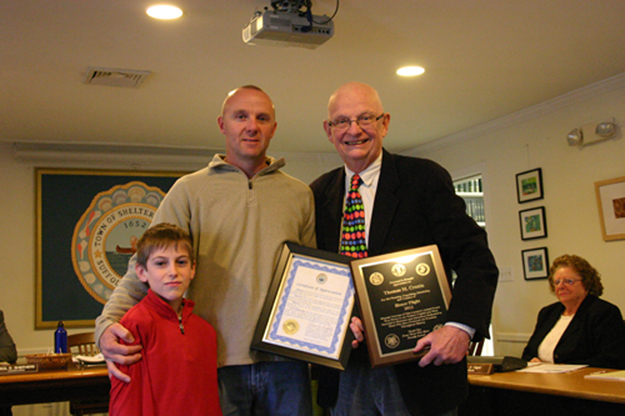 Town thanks Tom Cronin for honoring Island vets