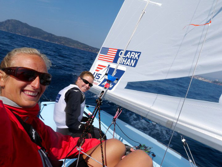 COURTESY PHOTO | Sarah Lihan and Amanda Clark in a photo from their Team Go Sail Facebook page.