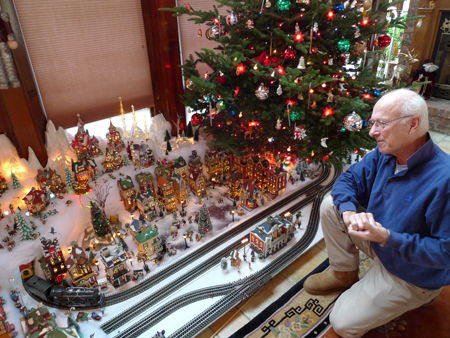 Video: Shelter Islander's holiday model train layout: so