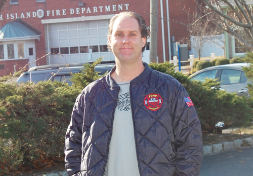 JO ANN KIRKLAND PHOTO | John Beresky in front of the Center Firehouse.