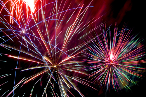 The fireworks show at Crescent Beach in Shelter Island will take place on July 11. (S.I. Reporter file photo)