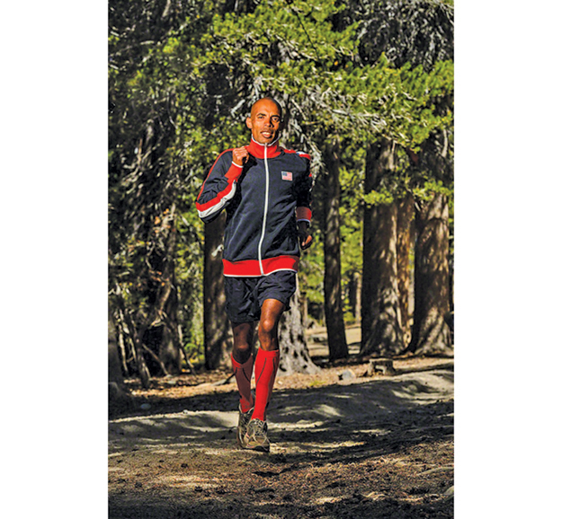 Meb Keflezighi, who won the Boston Marathon in April, will be running in the  Island's  10K on Saturday. (Credit: courtesy)