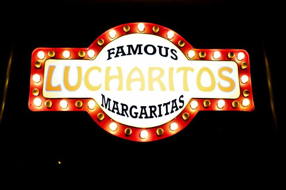 Lucharitos illuminated sign has cause controversy. (Marc LaMaina credit photo)