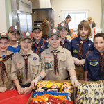 Cub scouts with snacks from Den 2 Webelos.