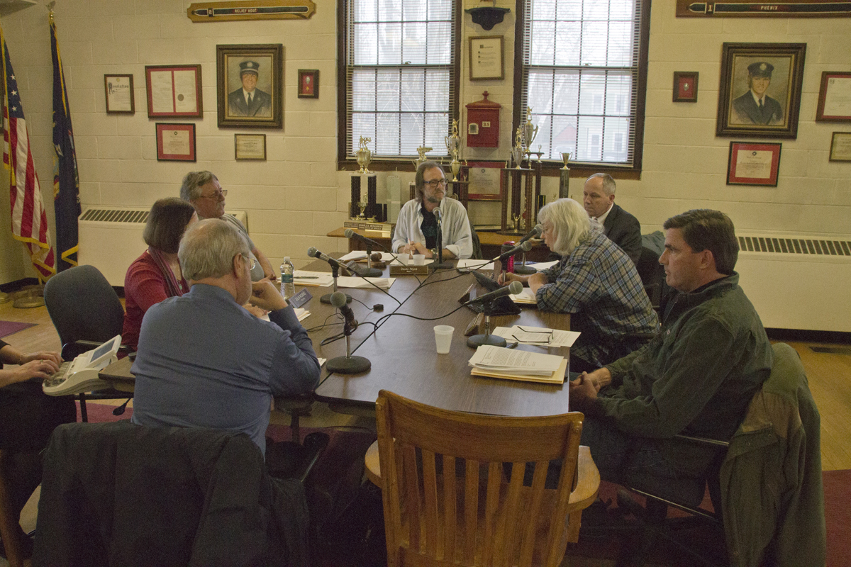 The Greenport Village board replaced an alternate election inspector at a special meeting Monday night. (Credit: Paul Squire)