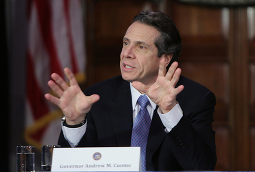 NYS EXECUTIVE CHAMBER COURTESY PHOTO | Governor Andrew Cuomo in Albany last year.