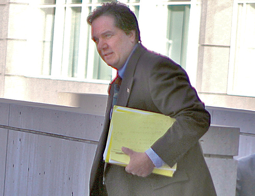 JENNIFER GUSTAVSON FILE PHOTO | Anthony Claudio enters the federal courthouse in Central Islip in October.